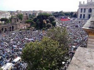 Un milion de oameni au manifestat la Roma împotriva legalizării căsătoriilor gay şi a ideologiei genului1