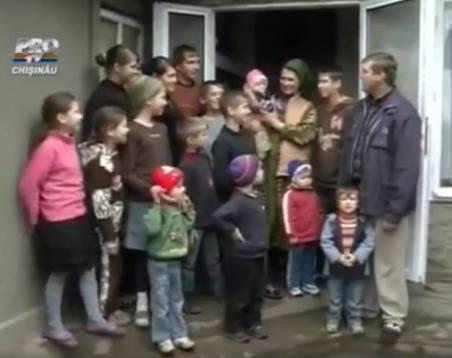 Viata in culori – O familie cu 15 copii din CHISINAU