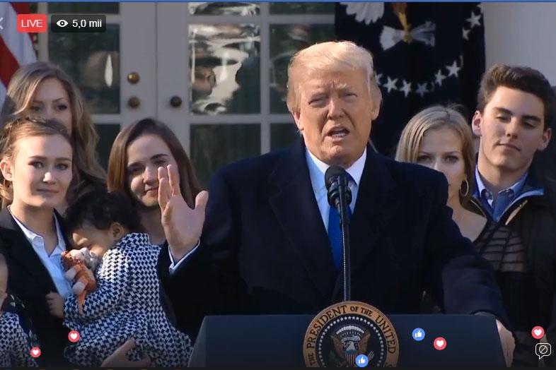 """Marșul pentru Viață 2018 de la Washigton DC – Donald Trump a vorbit participanților afirmând că în SUA există """"cea mai permisivă lege a avortului din lume"""""""