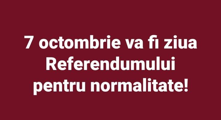 """Nechifor Caleb: La Referendumul pentru normalitate voi vota cu """"DA""""!"""