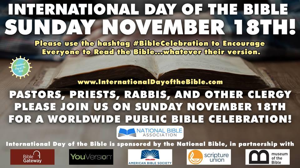 18 NOIEMBRIE 2018 – Ziua Mondială a Bibliei