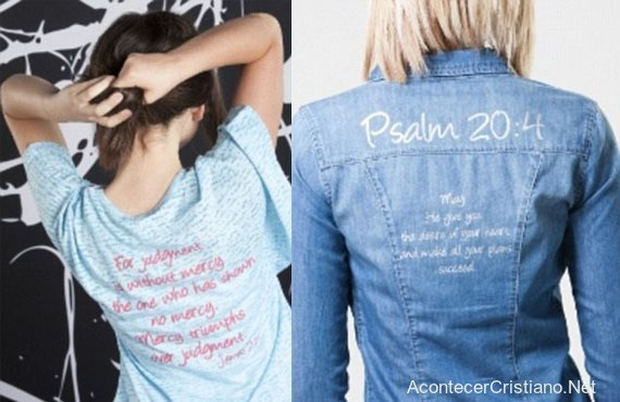 Un fost model lansează o linie vestimentară, creștină, pe care sunt imprimate versete biblice