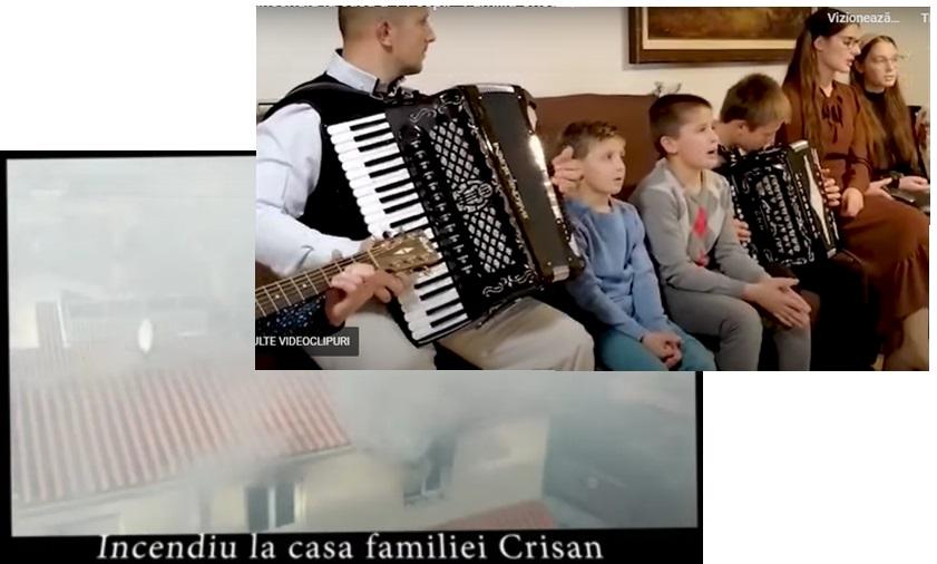 Incendiu la casa a 14 copii – Familia Crisan
