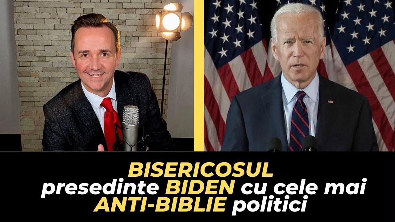 Ovidiu Patrick: BISERICOSUL presedinte BIDEN cu cele mai ANTI-BIBLIE politici (8 argumente)